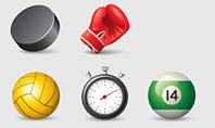 Sports Equipment Icons Presentation Template