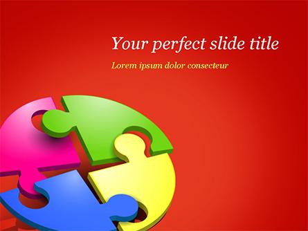 Four Part Puzzle Presentation Template, Master Slide