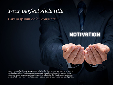 Glowing Word Motivation Presentation Template, Master Slide