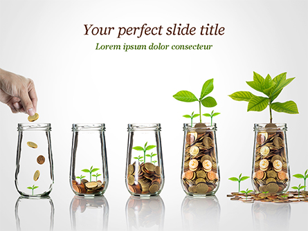 Business Investment Growth Concept Presentation Template, Master Slide