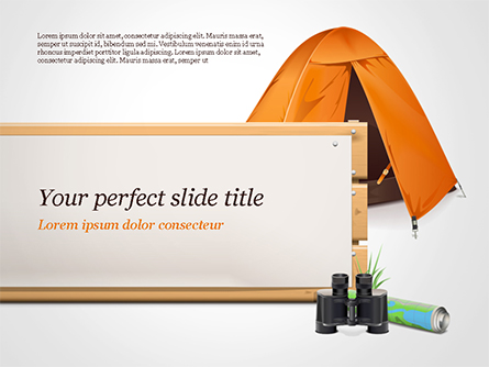 Tent Presentation Template, Master Slide