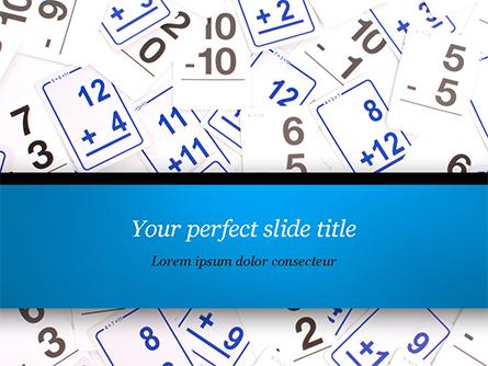 Math Flashcards Presentation Template, Master Slide