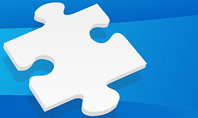 Piece of White Puzzle Presentation Template