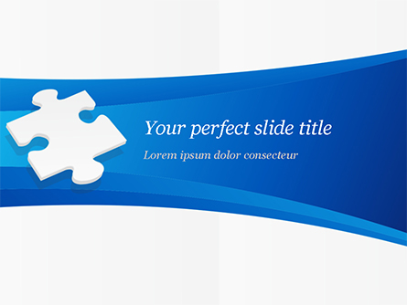 Piece of White Puzzle Presentation Template, Master Slide