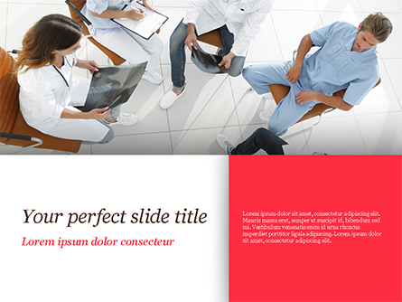 Doctors Meeting Presentation Template, Master Slide