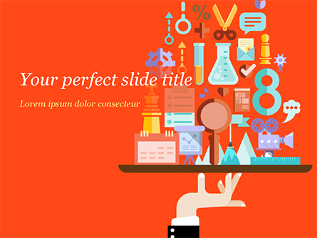 Search Engine Concept Presentation Template, Master Slide