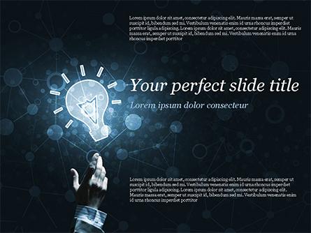 Blockchain Project Idea Presentation Template, Master Slide