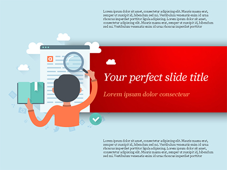 Information Search Illustration Presentation Template, Master Slide