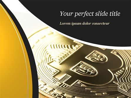 Bitcoin Coin Presentation Template, Master Slide