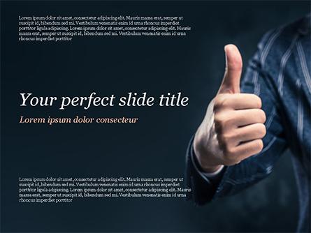 Man Shows Thumb Up Presentation Template, Master Slide