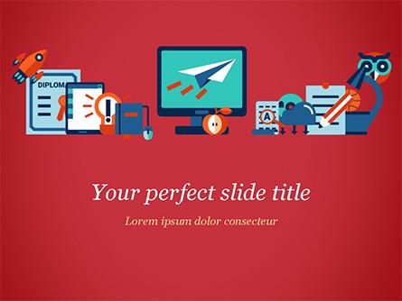 Online Education Concept Presentation Template, Master Slide
