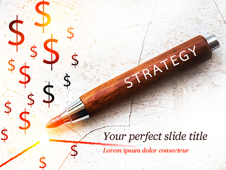 Inscription Strategy on Pencil Presentation Template, Master Slide