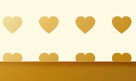 Background of Golden Hearts Presentation Template