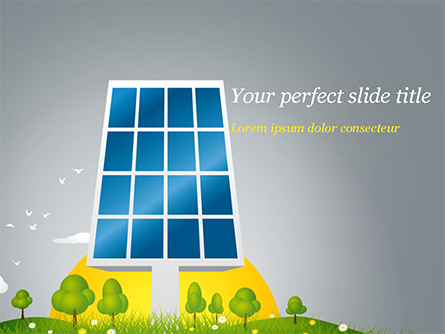Solar Energy Presentation Template, Master Slide