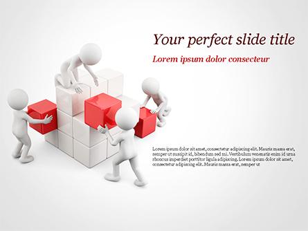 3D Teamwork Presentation Template, Master Slide