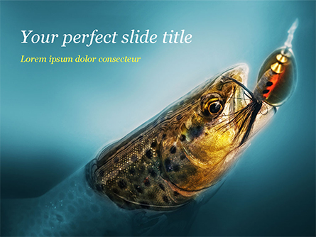 Pike Fishing Presentation Template, Master Slide