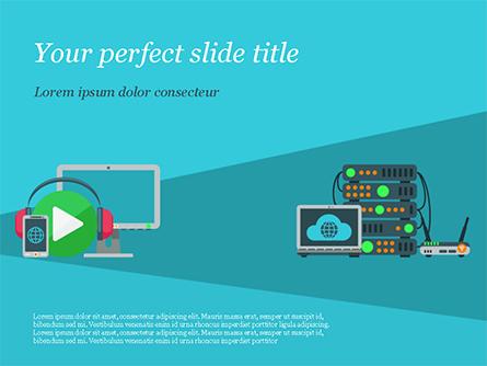 Cloud Service Illustration Presentation Template, Master Slide
