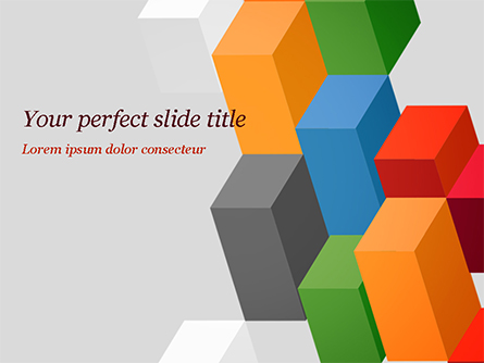 Abstract Colorful Columns Presentation Template, Master Slide