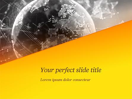 Dark Digital Globe Presentation Template, Master Slide