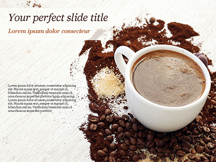 Coffee Cup and Coffee Beans Presentation Template, Master Slide