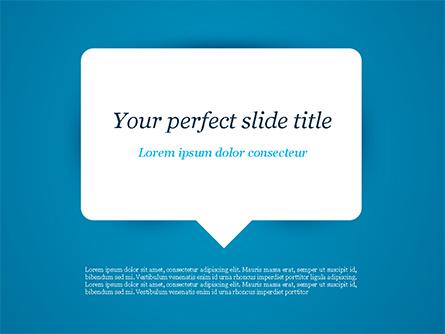 Message Icon Presentation Template, Master Slide