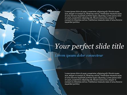 Global Network Connection Presentation Template, Master Slide