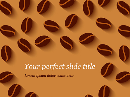 Coffee Beans Illustration Presentation Template, Master Slide