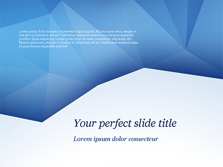 Triangular Polygon Style Presentation Template, Master Slide