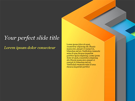 3D Arrows Presentation Template, Master Slide