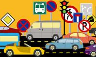 Road Traffic Illustration Presentation Template