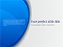 Abstract Blue Semicircle slide 1