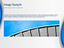 Abstract Blue Semicircle slide 10