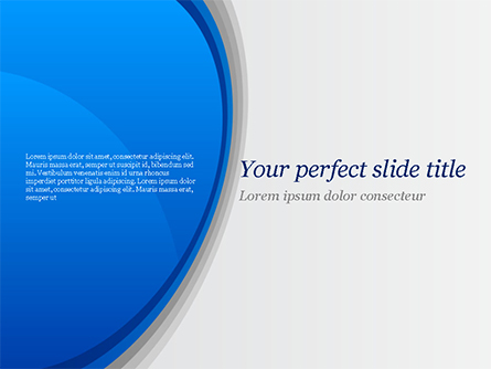 Abstract Blue Semicircle Presentation Template, Master Slide
