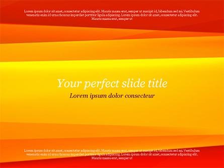 Bright Orange Background Presentation Template, Master Slide