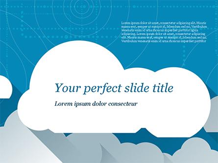 Paper Clouds Presentation Template, Master Slide