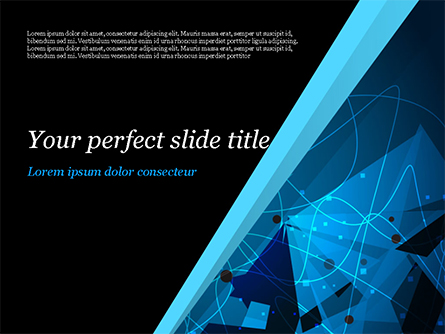 Abstract Geometrical Blue Bear Presentation Template, Master Slide