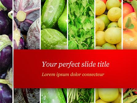 Colorful Rainbow Food Presentation Template, Master Slide
