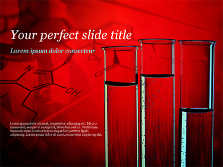 Science Laboratory Test Tubes Presentation Template, Master Slide
