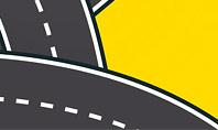 Roads Illustration Presentation Template