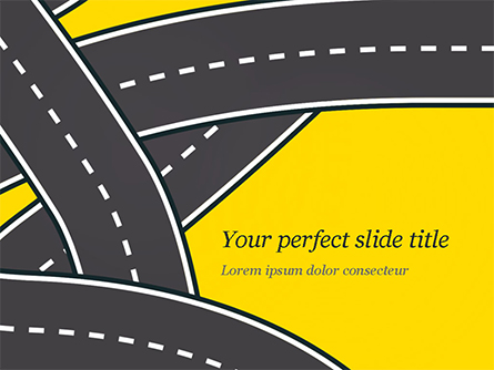 Roads Illustration Presentation Template, Master Slide