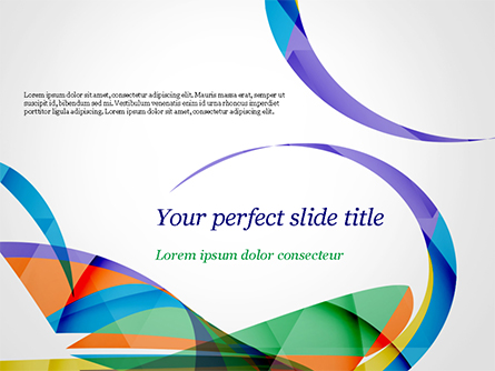 Colorful Abstract Background with Sharp Curls Presentation Template, Master Slide
