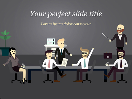 Corporate Meeting Presentation Template, Master Slide