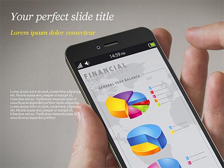 Financial Mobile App Presentation Template, Master Slide