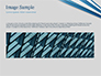 Blue and White Diagonal Lines Abstract slide 10