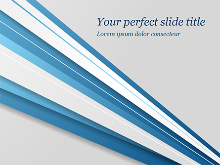 Blue and White Diagonal Lines Abstract Presentation Template, Master Slide