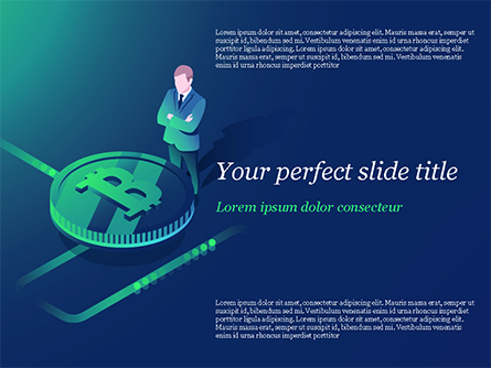 Bitcoin Mining  Concept Presentation Template, Master Slide