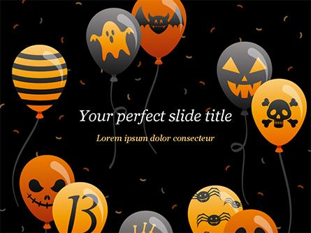Halloween Balloons Presentation Template, Master Slide