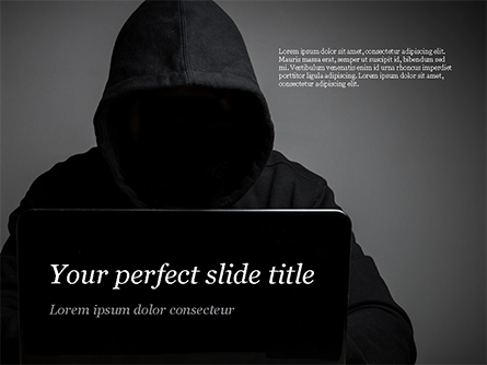 Computer Hacker Presentation Template, Master Slide