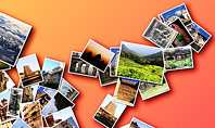 Photo Collection with Famous Indian Places Presentation Template
