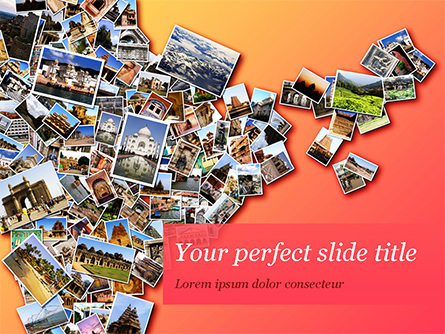 Photo Collection with Famous Indian Places Presentation Template, Master Slide